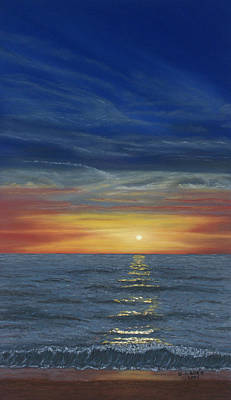 Blueberry Beach Sunset Art Print