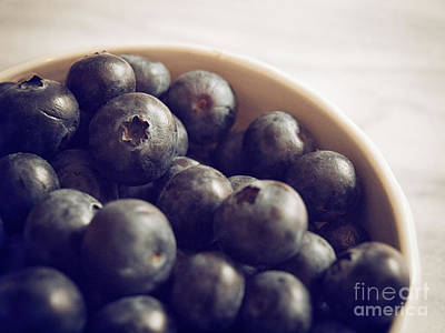 Blueberry Bowl Art Print by Alison Sherrow
