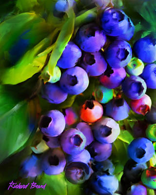 Digital Art - Blueberry Delight by Richard Beard
