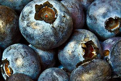 Blueberry Detail Art Print by Cole Black