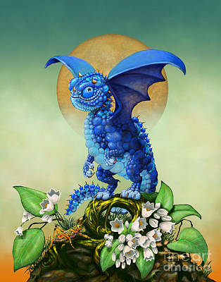 Blueberry Dragon Art Print