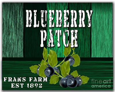 Blueberry Mixed Media - Blueberry Farm by Marvin Blaine