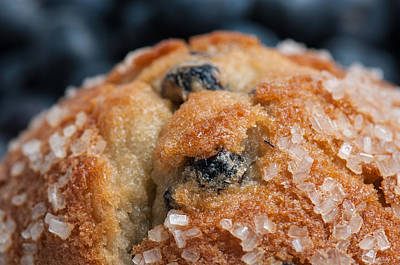 Granger Royalty Free Images - Blueberry Muffin Close Up Royalty-Free Image by Brandon Bourdages