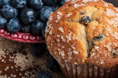 Blueberry Muffins Art Print