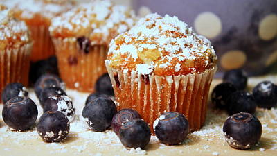 Photograph - Blueberry Muffins by Joseph Skompski