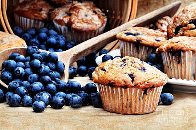 Blueberry Muffins Art Print by Stephanie Frey