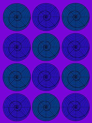 Blueberry Orb Circle Bubble Pop A La After Warhol  Art Print