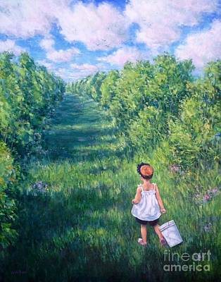 Painting - Blueberry Picking by Vickie Fears