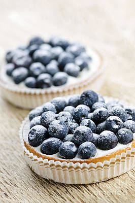 Deli Photograph - Blueberry Tarts by Elena Elisseeva
