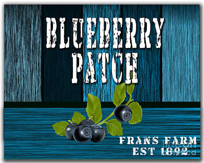 Blueberrys Print by Marvin Blaine