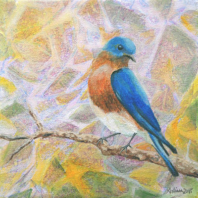 Painting - Bluebird - Birds in the Wild by Arlissa Vaughn