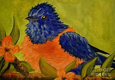Bluebird Art Print by Cecilia Stevens