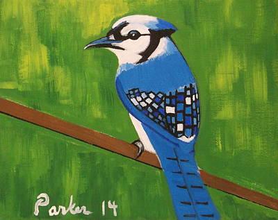 Bluebird Wall Art - Painting - Bluebird by Don Parker