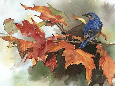 Bluebird Mixed Media - Bluebird by Gloria Kingma
