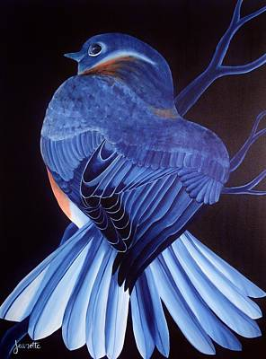 Animal Painting - Bluebird by Jeanette Fellows