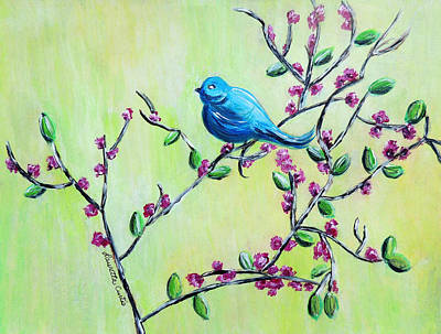 Painting - Bluebird by Lauretta Curtis
