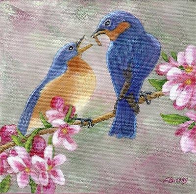 Painting - Bluebird Love by Fran Brooks