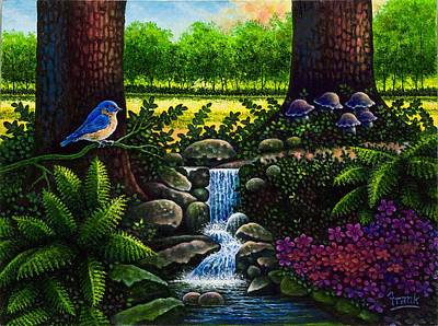 Art Print featuring the painting Bluebird by Michael Frank