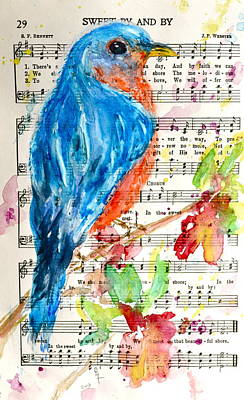 Reuse Painting - Bluebird Of The Sweet By And By by Beverley Harper Tinsley