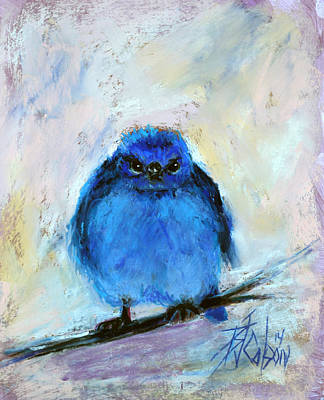 Angry Birds Pastel - Bluebird Of Unhappiness by Billie Colson