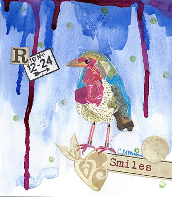 Bluebird Mixed Media - Bluebird Smiles by Cherri Lamarr