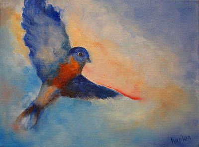 Painting - Bluebird by Susan Hanlon