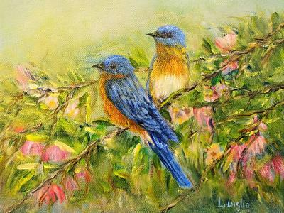 Painting - Bluebirds by Loretta Luglio