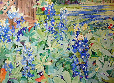 Bluebonnet Beauties Art Print