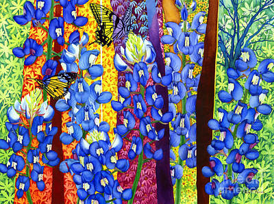 Featured Tapestry Designs - Bluebonnet Garden by Hailey E Herrera