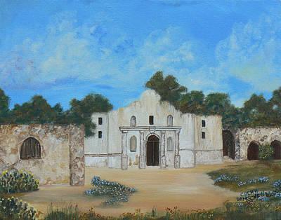 Painting - Bluebonnets At The Alamo by Cheryl Damschen