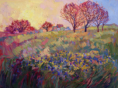 Texas Bluebonnets Painting - Bluebonnets by Erin Hanson