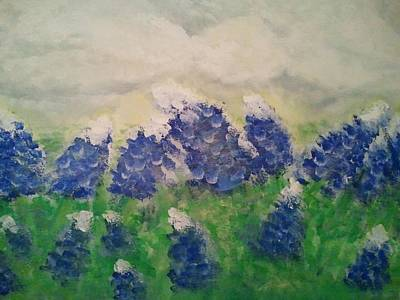 Painting - Bluebonnets by Hollie Ward
