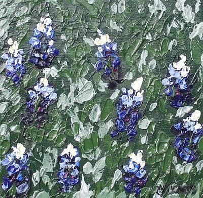 Melissa Torres Painting - Bluebonnets by Melissa Torres