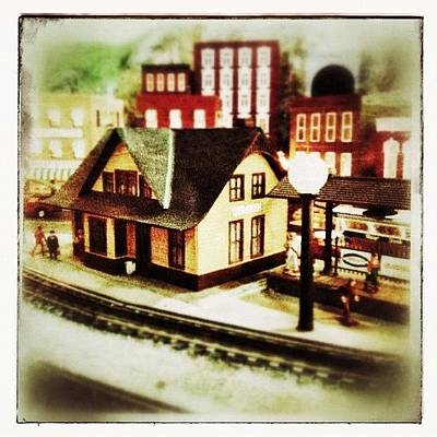 Train Photograph - Bluefield Train Station In Miniature At by Teresa Mucha