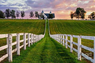 Landmarks Royalty Free Images - Bluegrass Farm Royalty-Free Image by Anthony Heflin