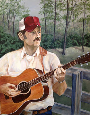 Bluegrass Picker Art Print by Janet Felts