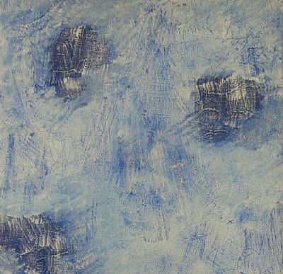 Opaque White Painting - Blueish by Mark Barcikowski