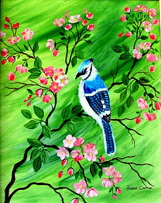 Painting - Bluejay by Fram Cama