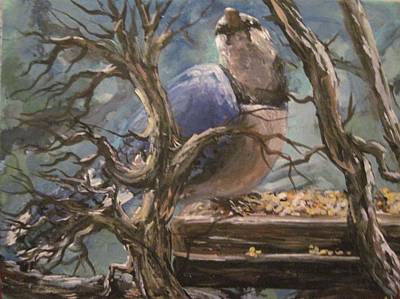 Art Print featuring the painting Bluejay by Megan Walsh