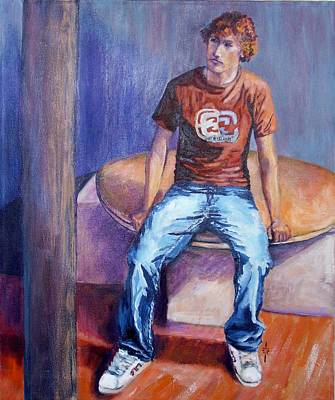 Painting - Bluejeans by Jodie Marie Anne Richardson Traugott          aka jm-ART