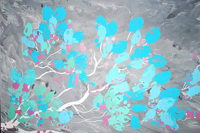 Indefinite Painting - Blueleaf by DC Decker