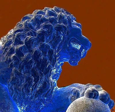 Pride Painting - Blue Lion Pride by David Lee Thompson