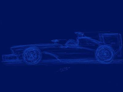 Digital Art - Blueprint For Speed by Stacy C Bottoms