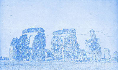 Drawing - Blueprint Of Stonehenge by Celestial Images