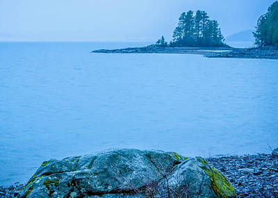 Photograph - Blues And Greens On A Gray Day  -  150206a-009 by Albert Seger