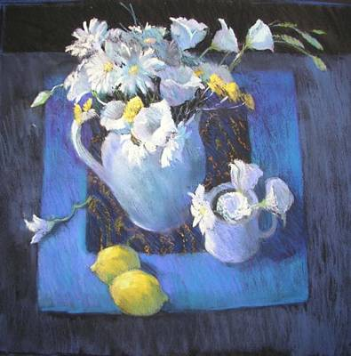 Painting - Blues And Lemons by Jackie Simmonds