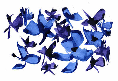 Blues And Violets Art Print by Frank Bright