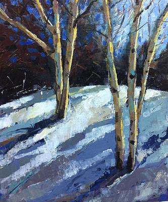 Blues And Warm Art Print