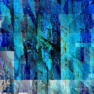 Mixed Media - Blues by Barbara Moignard