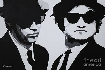 Blues Brothers Art Print by Katharina Filus